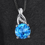 Classic 2.5ct Natural Blue Topaz Pendant 1459