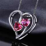 1.2ct Hear Ruby Pink Sapphire Pendant 1455
