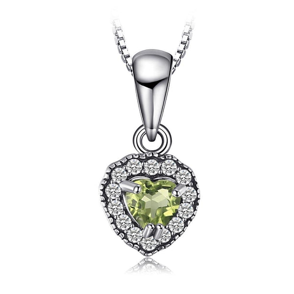 0.35 ct Peridot Heart Pendant Necklace 1492