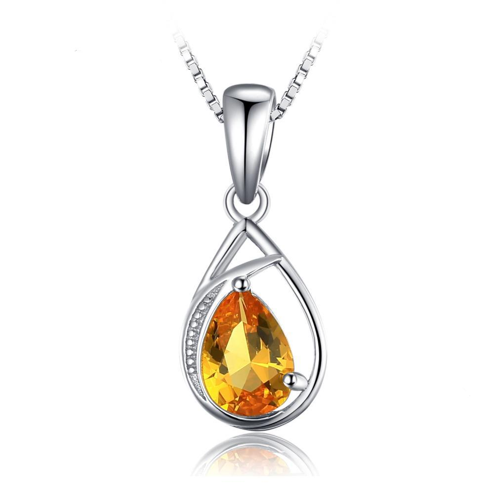 Elegant 0.95ct Orange Sapphire Pendant - Without Chain 1496