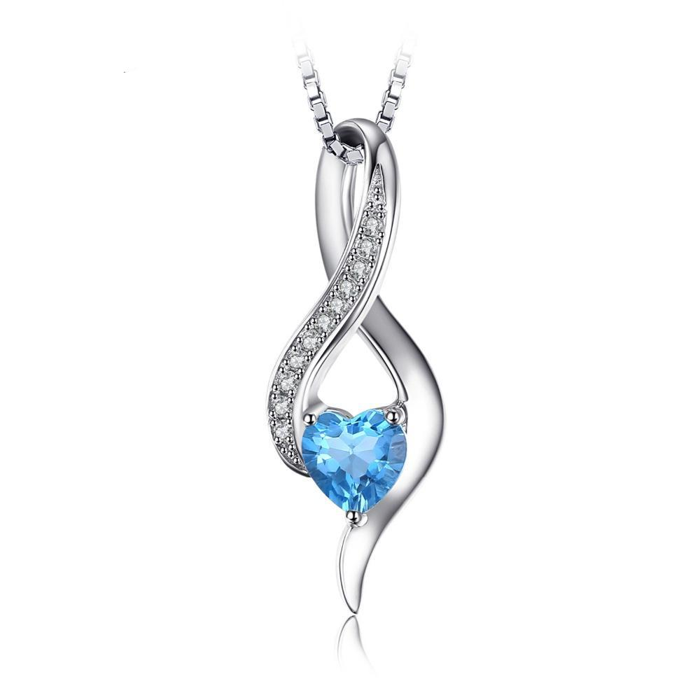 0.6ct Genuine Blue Topaz Pendant 1485