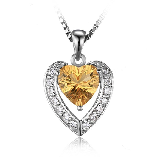 2.4ct Yellow Heart Citrine Pendant - Without Chain 1471