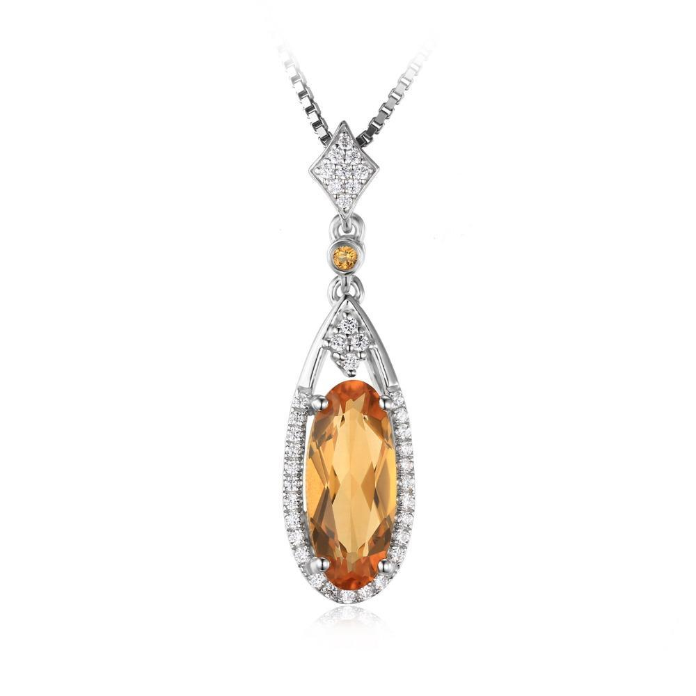 2.4ct Yellow Genuine Citrine Pendant - Without Chain 1504