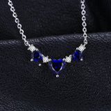 Heart 1.8ct Sapphire Sterling sIlver Necklace 1500