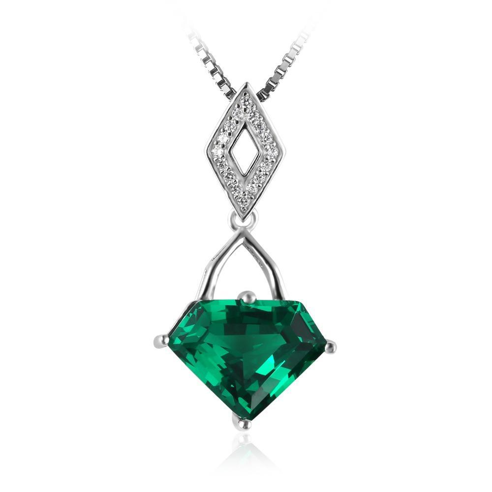 4.5ct Geometric Emerald Pendant - Without Chain 1489