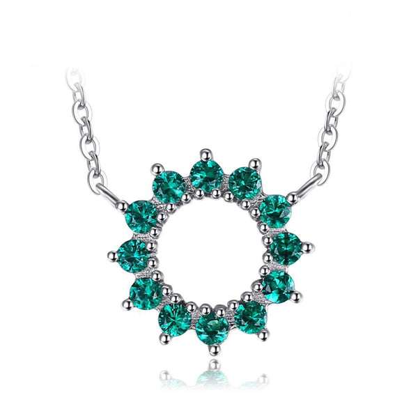Floral 0.3ct Emerald Necklace 1542