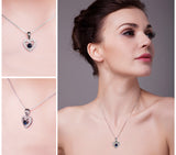 Love 0.6ct Blue Spinel Pendant Necklace 1539