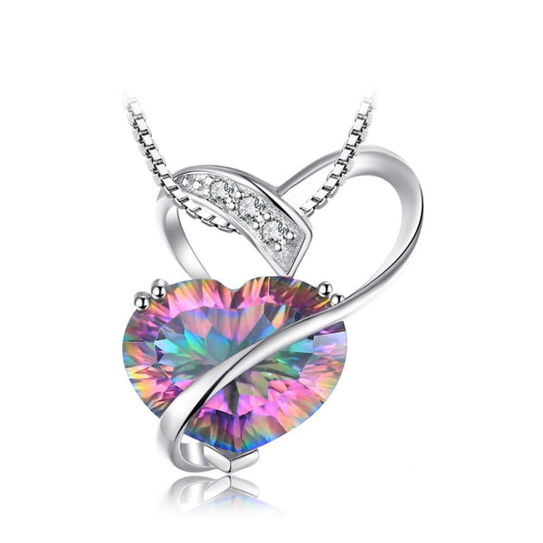 Heart 6.2ct Rainbow Fire Mystic Topaz Pendant 1527