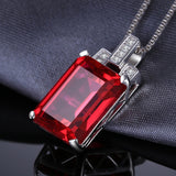 9.5ct Red Ruby Sterling Silver Pendant - Without Chain 1573