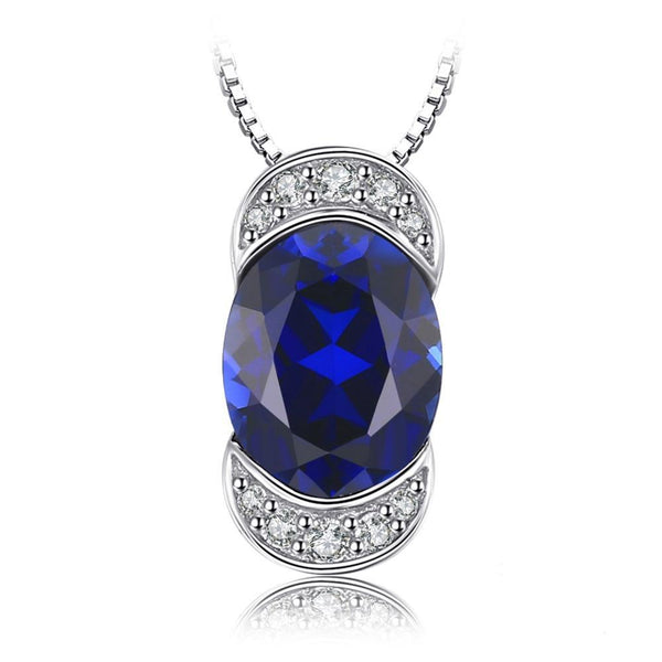 Luxury 2.75ct Oval-Cut Sapphire Pendant Necklace 1520