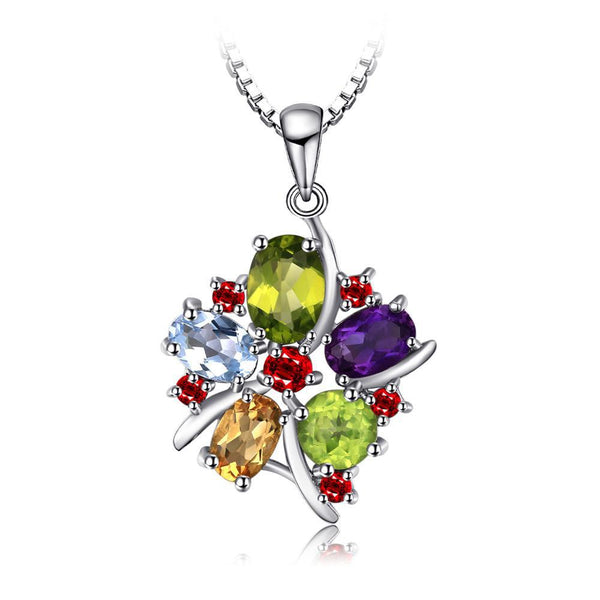 Multicolor 3.1ct Gemstone Flower Pendant 1544