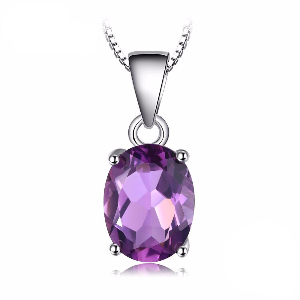 Oval Cut 1.7ct Purple Amethyst Pendant 1558