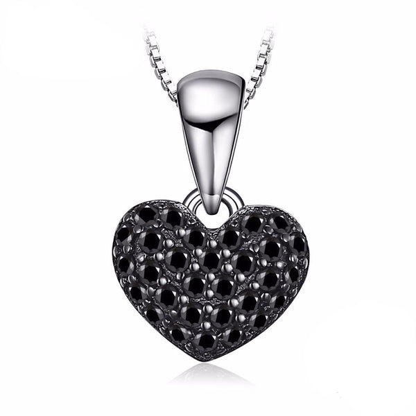0.28ct Black Spinel Heart Pendant 1561
