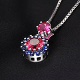 2ct Ruby & Spinel Pendant Necklace - Without Chain 1532