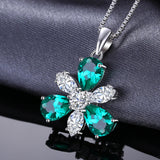 7.6ct Pear Shaped Flower Emerald Pendant 1578