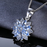 1.2ct Light Blue Spinel Pendant Necklace 1541