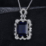 Luxry 4.3ct Sapphire Pendant Necklace 1552