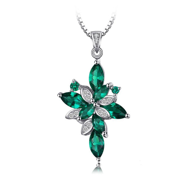 Flower 2.6ct Green Emerald Pendant - Without  1525
