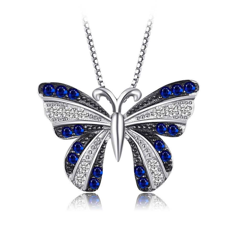 Butterfly 0.4ct Blue Spinel Pendant - Without Chain 1583
