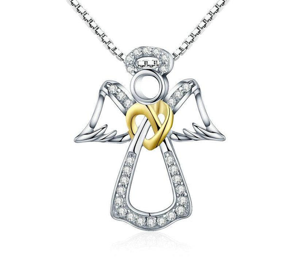 925 Sterling Silver Guardian Angel Necklace