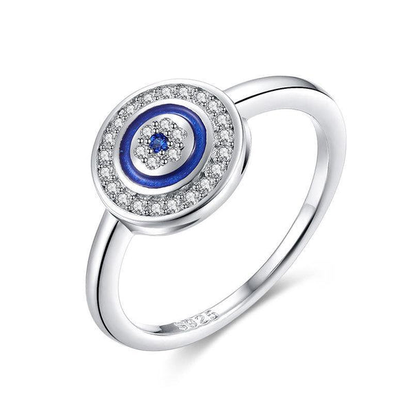 925 Sterling Silver Tension Evil Eye Ring