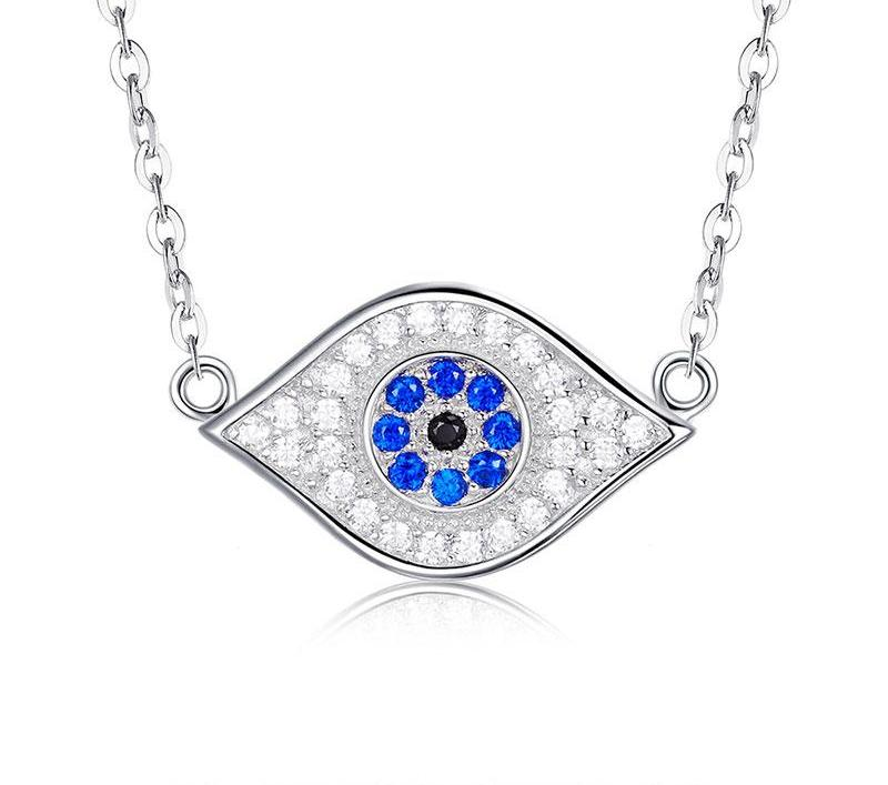 925 Sterling Silver Bright Evil Eye Necklace