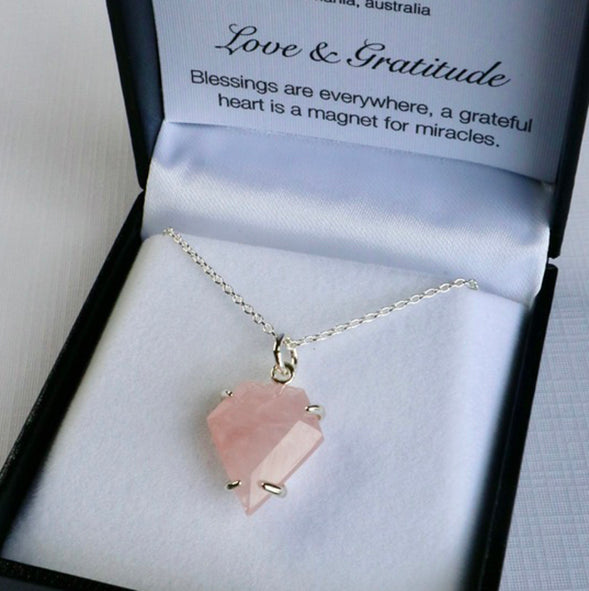 Love & Gratitude - Rose Quartz Necklace