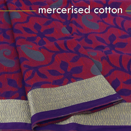Mercerised Cotton Sarees