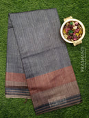 Bhagalpuri printed saree grey and red shade with digital printed border