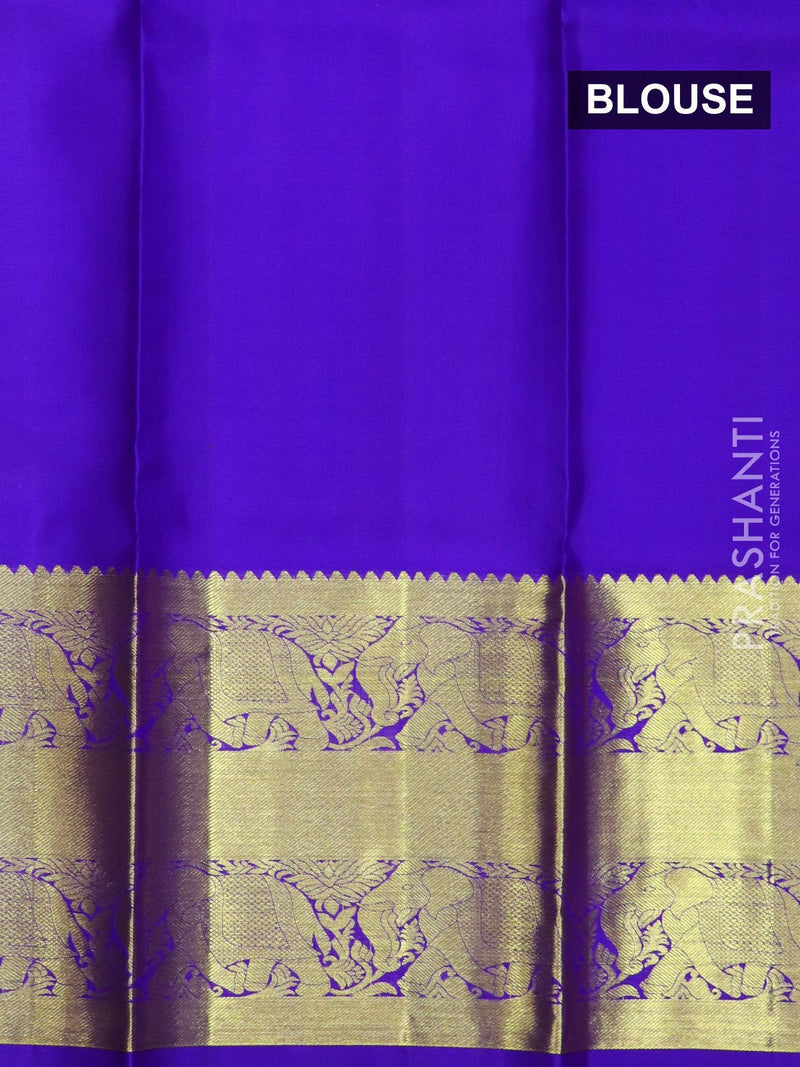 Pure silk pavadai material pink and purple with allover floral buttas and rich zari border for 6 to 10 years