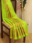Soft silk saree light green with thread weavs and zari border