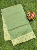 Manipuri Kota saree green with thread woven border