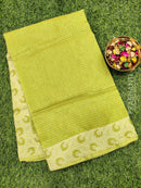 Manipuri Kota saree light green with thread woven border