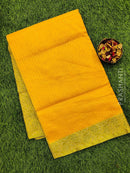 Manipuri Kota saree yellow and beige with thread woven border