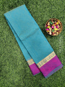 South kota saree dual shade of blue and pink with musical buttas and border