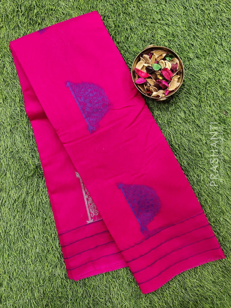 South kota saree pink with simple border and body buttas