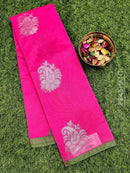 South kota saree pink and green with piping border and body buttas