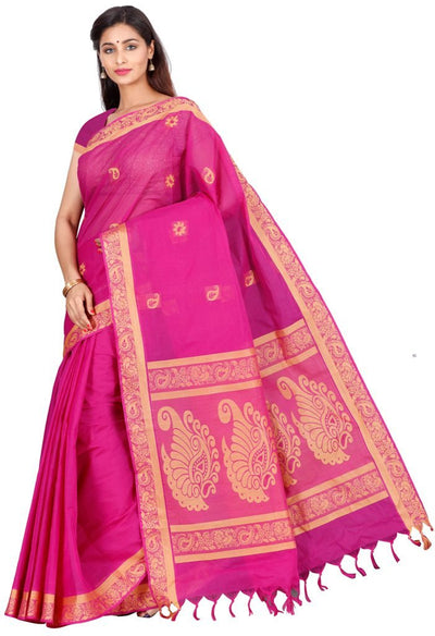 coimbatore Cotton Saree - Pink