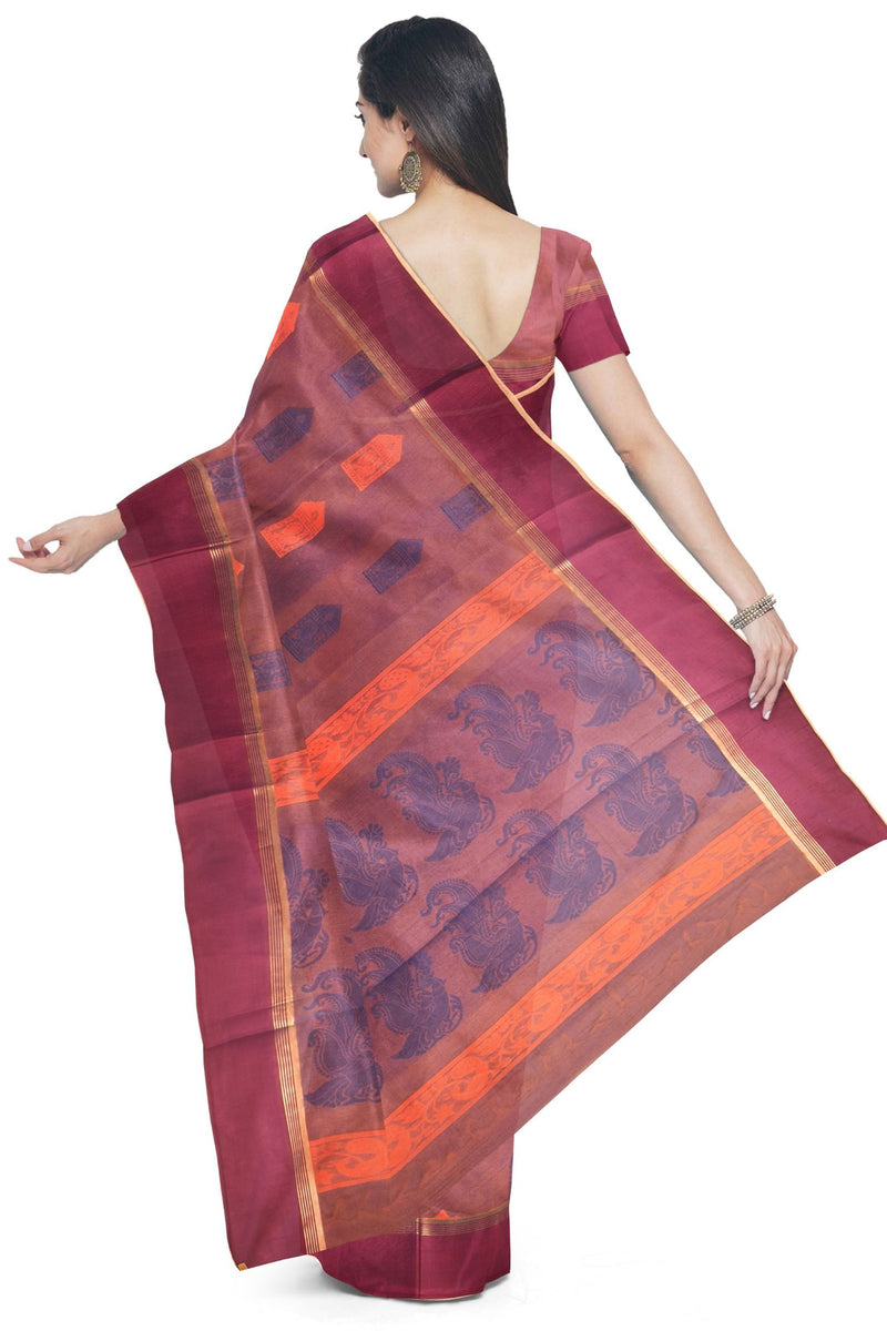 Coimbatore Cotton Butta Saree - Light Purple