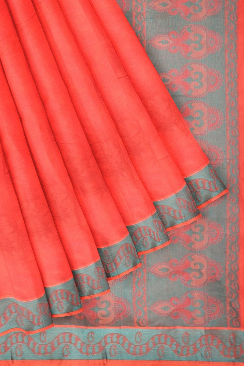 Coimbatore Cotton Emboss Saree - Rose