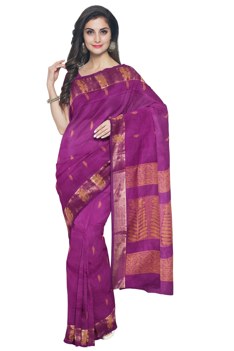 Coimbatore Cotton Saree - Purple