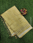 Semi raw silk saree beige with all over embroidery