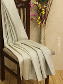 Pure Soft silk Tissue saree sliver with paisley zari weaves in borderless style