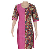 Kalamkari Kurta Pink and Maroon with leaf design