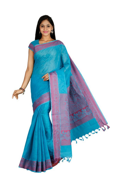 coimbatore Cotton Saree - Blue