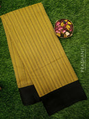 South Kota Saree mustard and black with thread woven pattern in zariless style