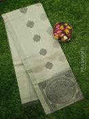 South Kota Saree pastel grey with thread woven pattern in zariless style