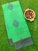 South Kota Saree teal and grey with thread woven pattern in zariless style