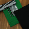 Dress Material - Green and black with ikkat dupatta