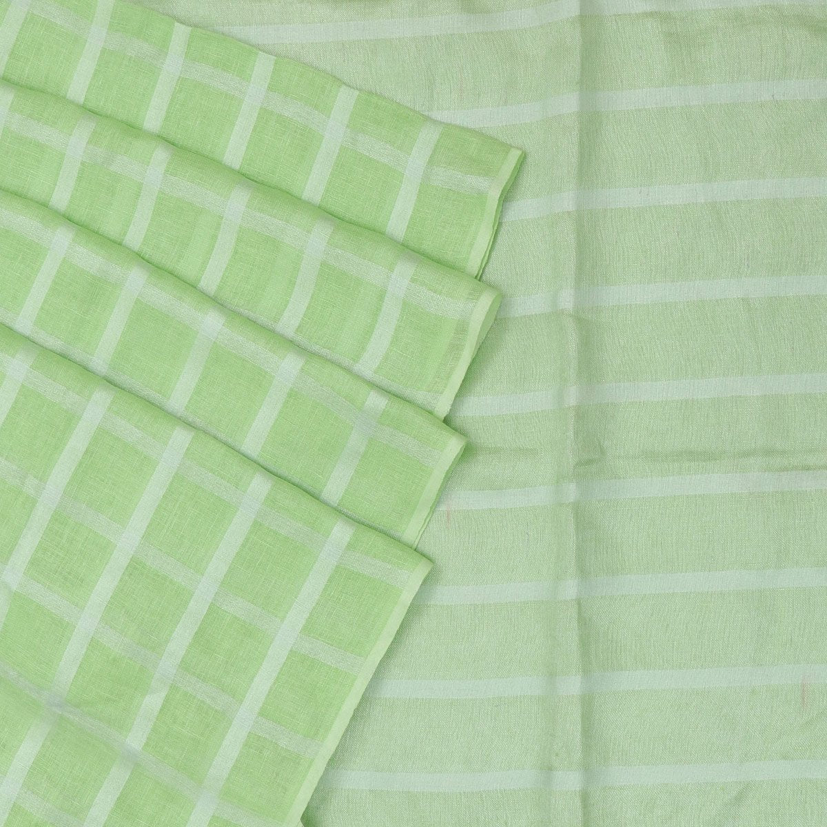 Linen Saree Mint Green with Simple border